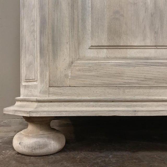 Rustic Antique Country French Whitewashed Secretary ~ Bookcase For Sale - Image 11 of 13