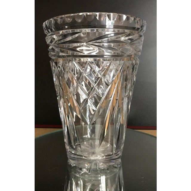 1950s Beautiful Cut Crystal Vase Chairish