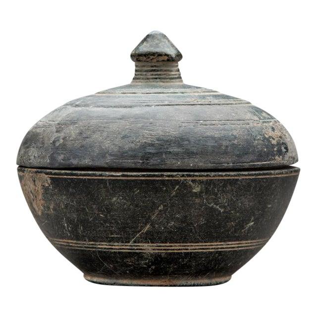 Gandharan Buddhist Green Schist Reliquary For Sale