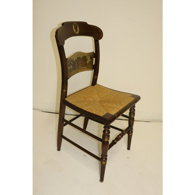 American 1970s Vintage Hitchcock Limited Edition Chair For Sale - Image 3 of 11