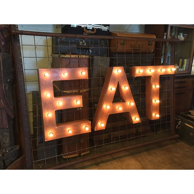 1940s Vintage Up-Cycled Ambient 'Eat' Sign - Image 3 of 10