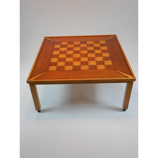 Vintage Mid-Century Modern Chess / Game Table by Lane For Sale - Image 4 of 11
