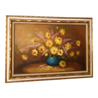 Vintage Mid-Century Still Life Painting by Robert Cox For Sale