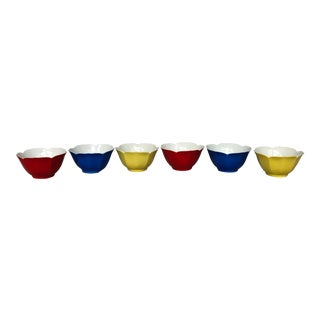 Ceramic Lotus Flower Rice Bowls - Set of 6 For Sale