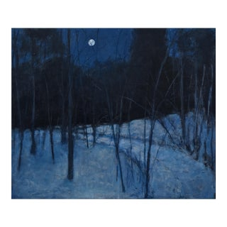 "Stephen Remick ""Full Moon Winter's Night"" Painting"
