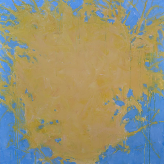 """Forsythia"" Abstract Painting - Image 9 of 9"