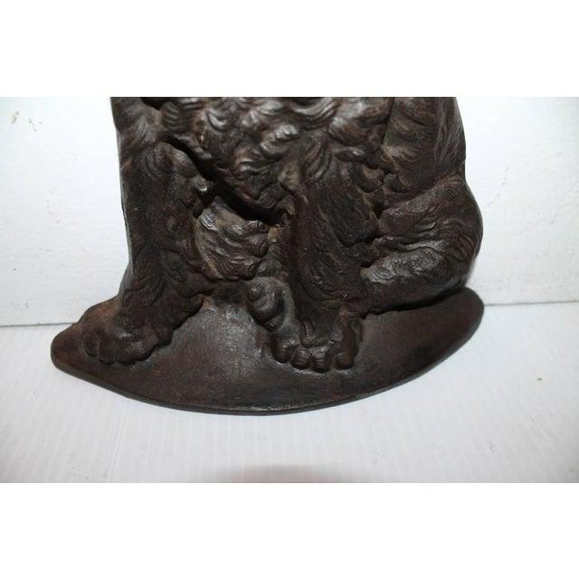 Monumental 19Thc Cast Iron Dog - Image 4 of 5