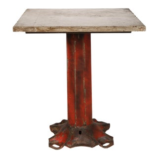 Belgian Bistro Square Side Table For Sale