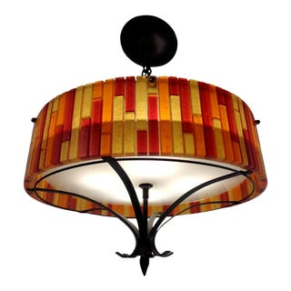 Moe Acrylic Lucite Mid Century Modern Hanging Pendant Light For Sale