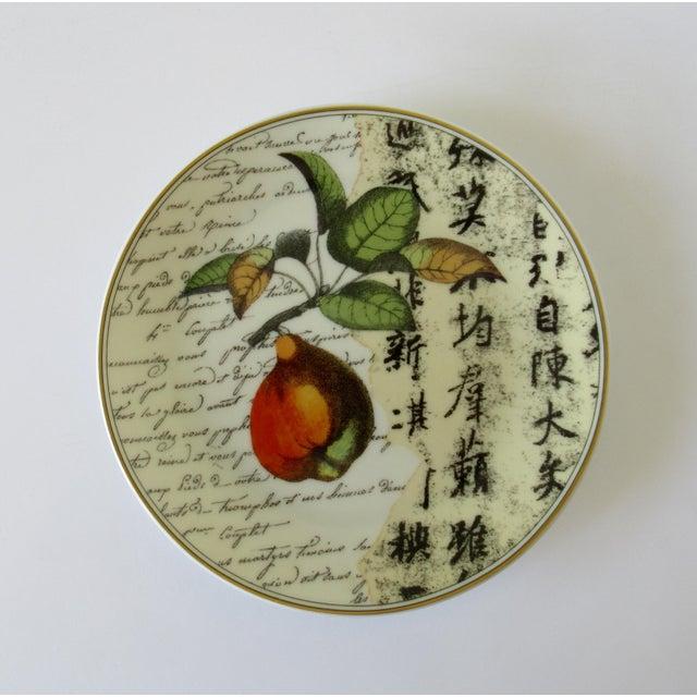 "Bernaradaud Limoges ""Peosie"" Canapé Plates - Set of 6 For Sale - Image 9 of 13"