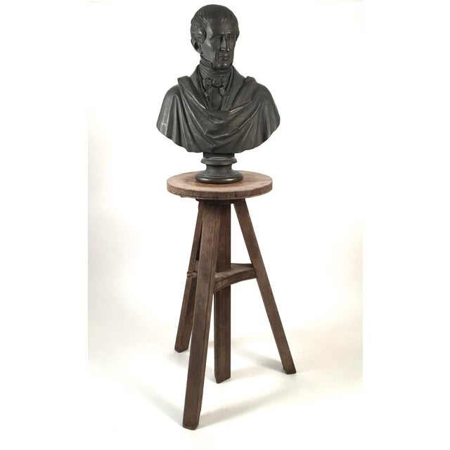 French Oak Adjustable Height Sculptor's Stand For Sale - Image 3 of 8