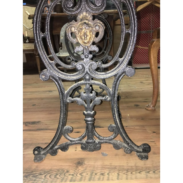Late 20th Century 20th Century French Marble & Cast Iron Bistro Table For Sale - Image 5 of 12