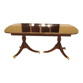 Kindel Flame Grain Duncan Phyfe Mahogany Dining Room Table
