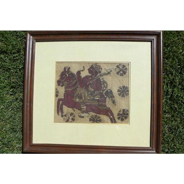 Framed Kalamkari Textile, Moghul Empire For Sale In Los Angeles - Image 6 of 6
