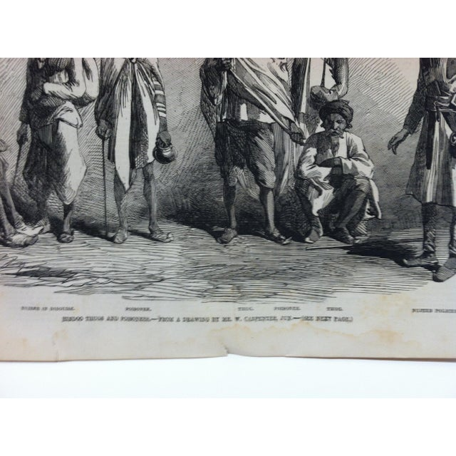 """1857 Antique Illustrated London News """"Hindoo Thugs and Poisoners"""" Print For Sale - Image 4 of 5"""