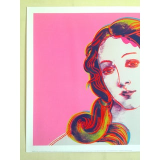 "Andy Warhol Foundation Offset Lithograph Pop Art Poster "" Birth of Venus "" 1984 Preview"