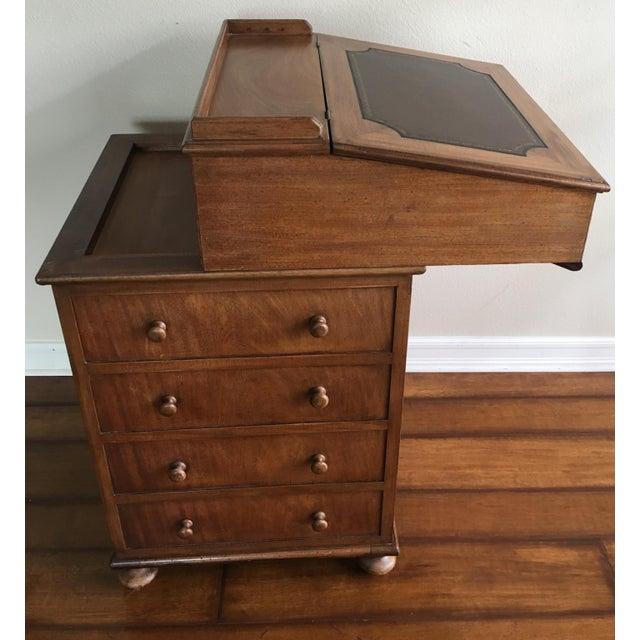 Antique British Colonial Davenport/Captain's Desk For Sale - Image 10 of 10