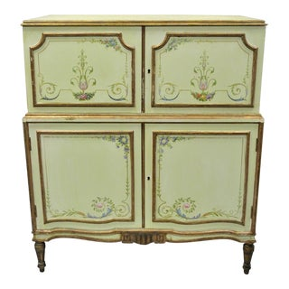 Antique New York Galleries Adams Style Green Painted Chest of Drawers Dresser