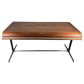 1960's Vintage George Nelson Tambour Roll Top Desk For Sale
