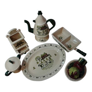 Poppy Trail Pottery Set For Sale