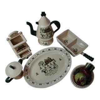 Poppy Trail Pottery Set For Sale
