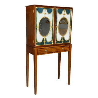 George III Mahogany Cabinet on Stand For Sale