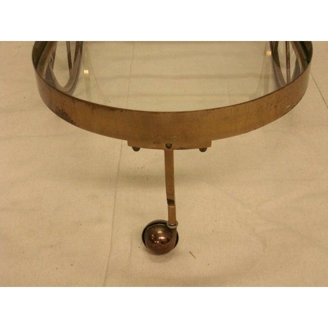 Deco Brass Bar Cart - Image 5 of 10