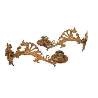 French Wall Candle Sconces - a Pair For Sale