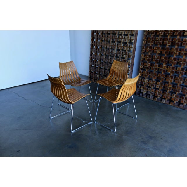 1960s Mid-Century Modern Hans Brattrud for Hove Dining Chairs - Set of 4 For Sale In Los Angeles - Image 6 of 13