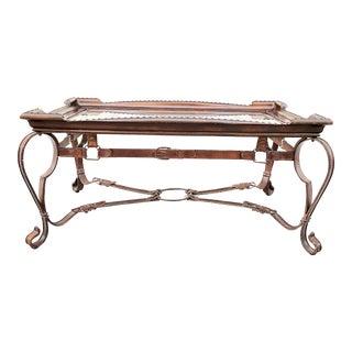 Italian Gilt Iron Glass Coffee Table