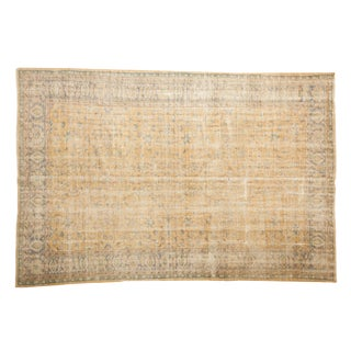"Vintage Distressed Oushak Carpet - 7'1"" X 10'3"" For Sale"