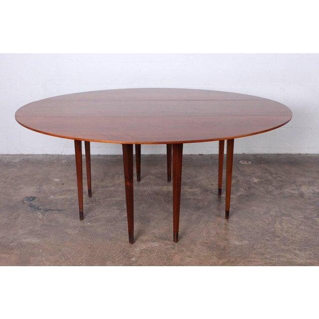 Dunbar Furniture Walnut Drop-Leaf Console Table by Edward Wormley for Dunbar For Sale - Image 4 of 11