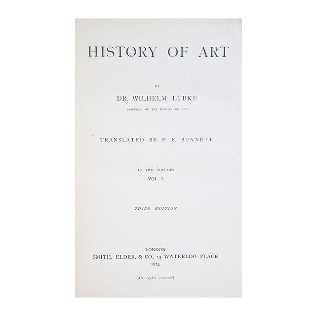 "Late 19th Century 1874 ""History of Art, v. I & Ii"" Coffee Table Book For Sale - Image 5 of 6"