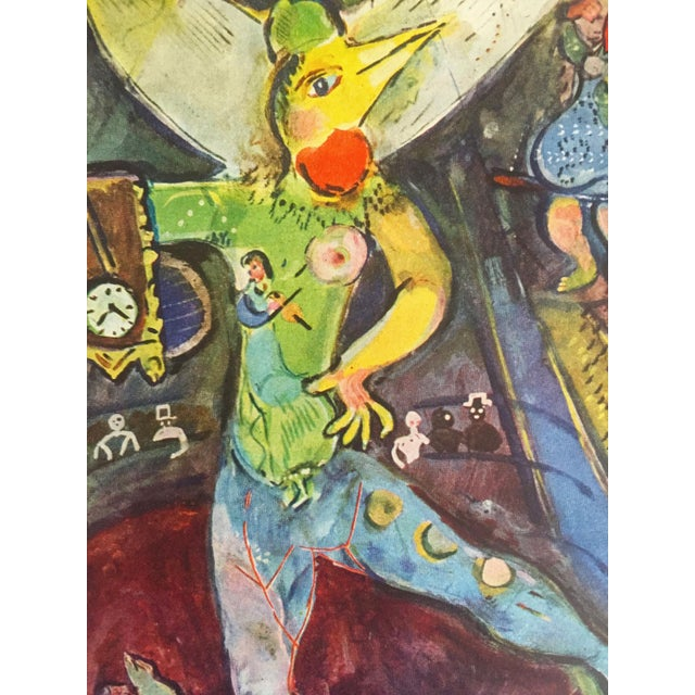 """1940s Marc Chagall Vintage 1947 Rare Limited Edition French Lithograph Print """" L' Acrobate """" For Sale - Image 5 of 12"""