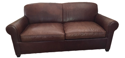 Crate U0026 Barrel Leather Club Sleeper Sofa
