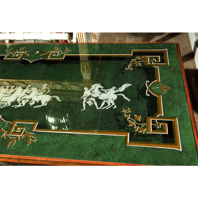 Italian 20th Century Fornasetti Style Coffee Table For Sale - Image 3 of 8