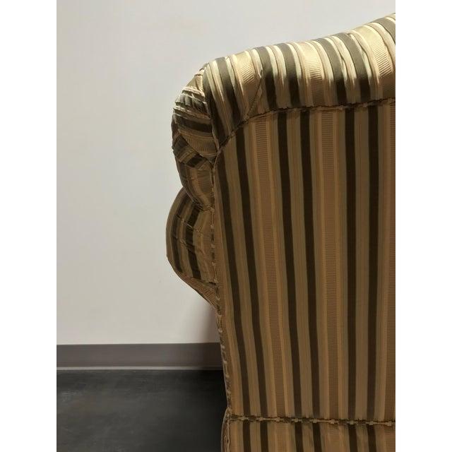 Baker Roll Arm Sofa in Cut Velvet For Sale - Image 11 of 13