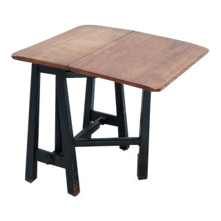 Small 19th Century Folding Side Table For Sale