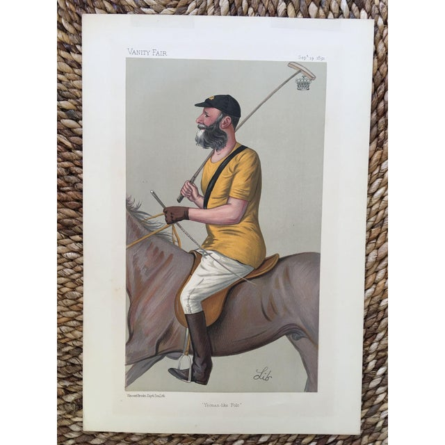 1891 Vanity Fair Polo Print - Earl of Harrington - Image 2 of 2