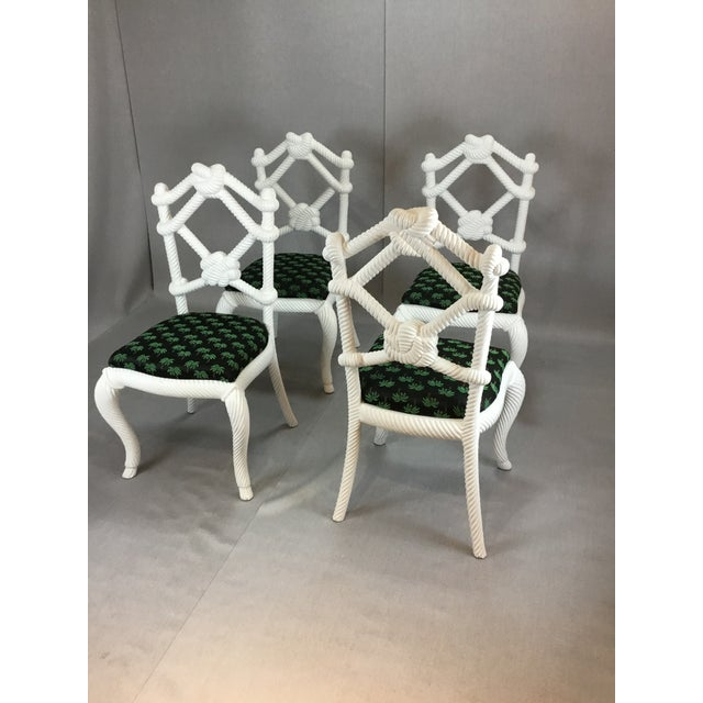 2000 - 2009 Designer Rope Chairs - Set of 4 For Sale - Image 5 of 5
