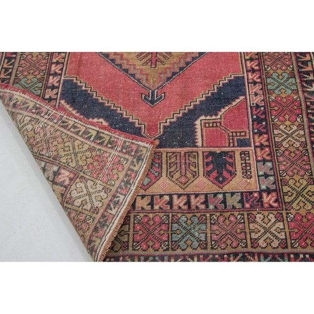 1960s Vintage Decorative Turkish Area Rug- 3′8″ × 5′10″ For Sale - Image 5 of 7