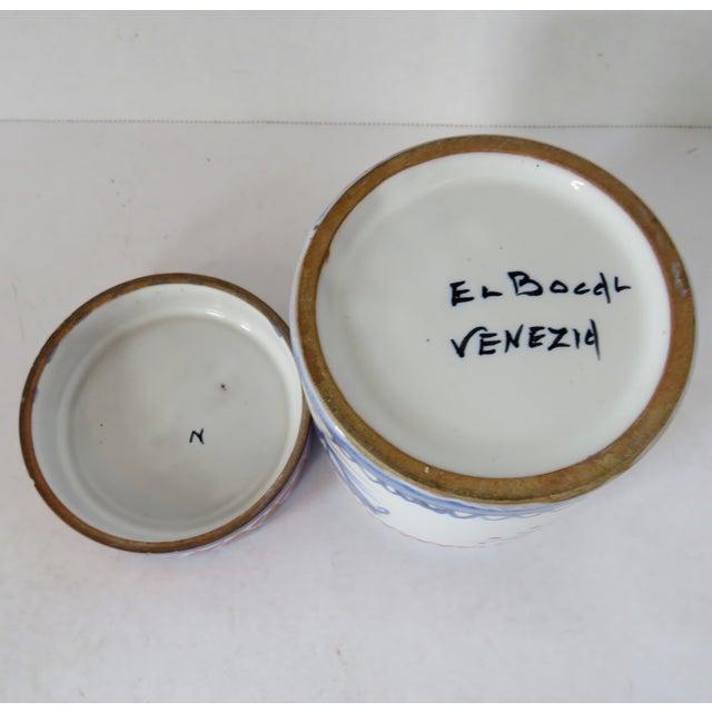 Ceramic Handpainted Italian Ceramic Container For Sale - Image 7 of 8
