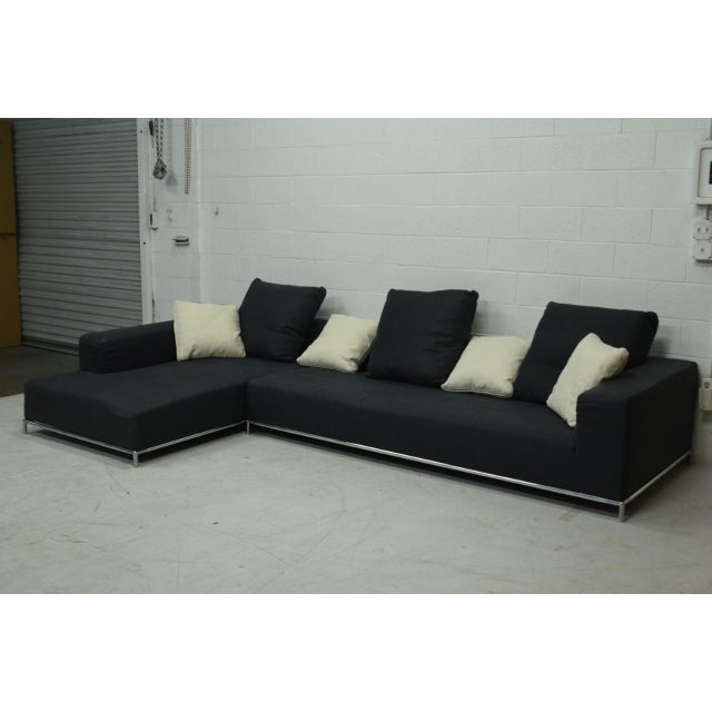 21st Century Antonio Citterio for B&b Italia Two-Piece George Sectional For Sale In Los Angeles - Image 6 of 10