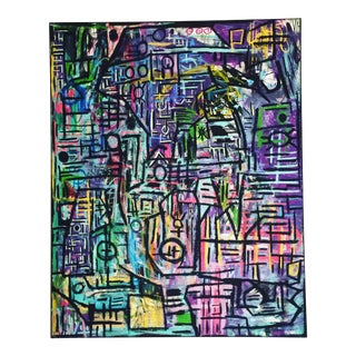 Contemporary Painting on Canvas For Sale