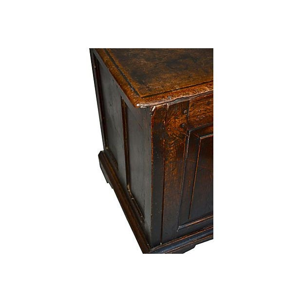 18th C English Oak Wood Chest - Image 3 of 5