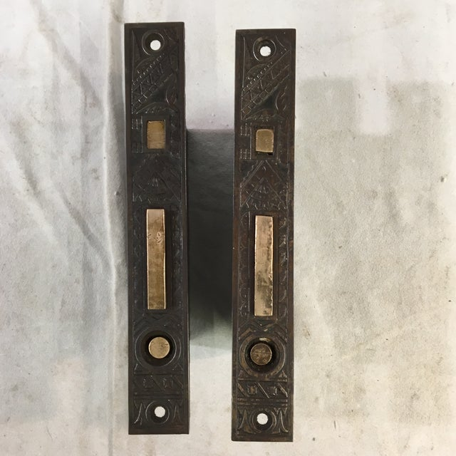 Antique Victorian Pocket Door Mortise Lock Boxes - a Pair For Sale - Image 10 of 11