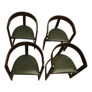 Post-Modern Tobia Scarpa Style Dining Chairs - Set of 4 For Sale