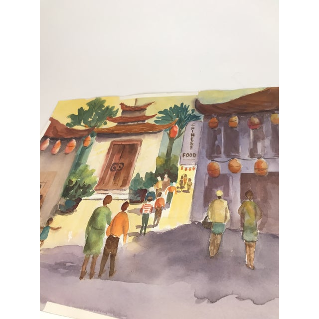 Lovely, original watercolor painting by Ann Stone. I purchased a whole lot of paintings from my lovely neighbors estate....