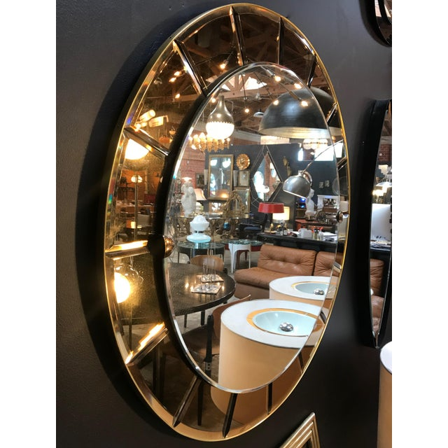Cristal Arte Cristal Arte Monumental Red Round Wall Mirror, Italy, 1950s For Sale - Image 4 of 8