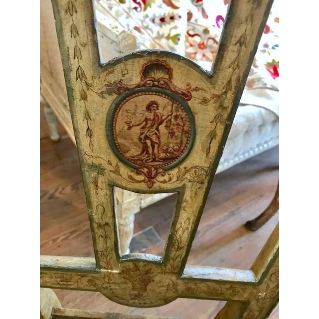 Mid 18th Century Four 18th Century Italian Painted Side Chairs For Sale - Image 5 of 9